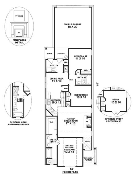 House Plan 46472 Traditional Style with 1292 Sq Ft 3