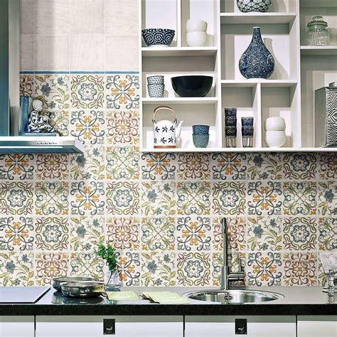 Create A Summery Kitchen With Moroccan Tiles  Walls And