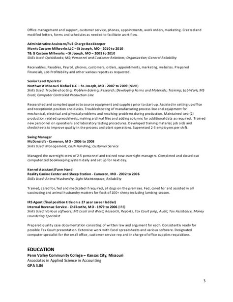 Assembly Line Technician Resume by Farley Gfg Resume 12 2014