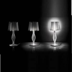 Lampe à Clipser : lampe poser liza transparent h70cm led halog ne slamp luminaires nedgis ~ Teatrodelosmanantiales.com Idées de Décoration