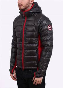 Canada Goose Hybridge Lite Hooded Jacket Graphite Red