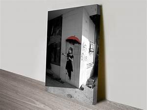 Banksy Raingirl Canvas Wall Art Print