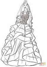 Coloring Pages Bride Pretty Printable Paper Drawing sketch template
