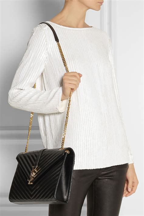 saint laurent womens monogram medium shoulder bag