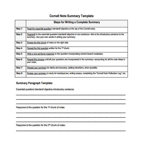 sample editable cornell note templates