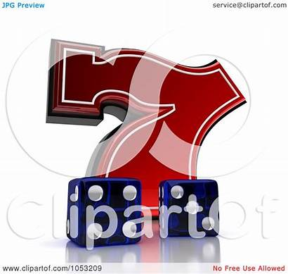 Lucky Dice Seven 3d Clipart Illustration Stockillustrations