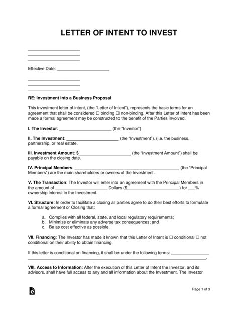 business proposal letter  intent template