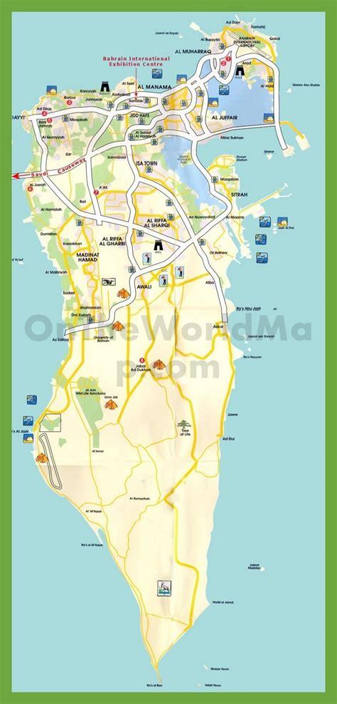 tourist map  bahrain