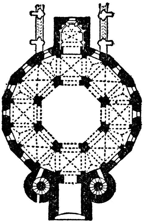 plan  cathedral  aix la chapelle ad  clipart