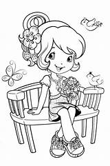Coloring Strawberry Shortcake Pages Bench Colouring Flowers Cake Printable Sheets Princess Jam Cherry Books Mermaid Getcolorings Games Doodle Pretty Desenhos sketch template