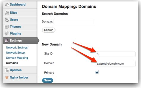 Wordpress-multisite + Domain-mapping Guide