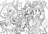 Coloring Doki Glitter Force Precure Pretty Cure Entitlementtrap Printable Candy Princess Template Para Ace Dibujos Popular Pintar Visit sketch template