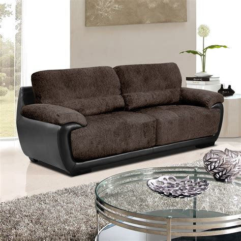 leather and fabric sofa overton chenille brown fabric sofas with black leather