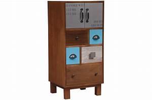 Meuble Vintage Pas Cher : meuble de rangement bois vintage paul meuble de rangement pas cher ~ Teatrodelosmanantiales.com Idées de Décoration