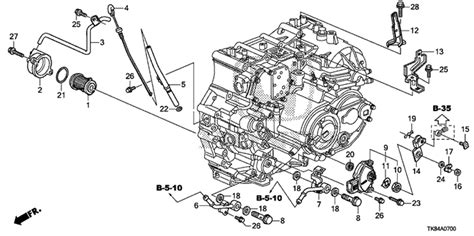 Honda Pilot Engine Diagram Transmission by Oem 2013 Honda Odyssey 5 Door At Level Atf