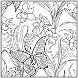 Coloring Pages Adult Garden Sunset Beach Butterfly Botanical Printable Adults Coloriage Relaxation Easy Flower Designs Colorings Getcolorings Flowers Papillon Fine sketch template