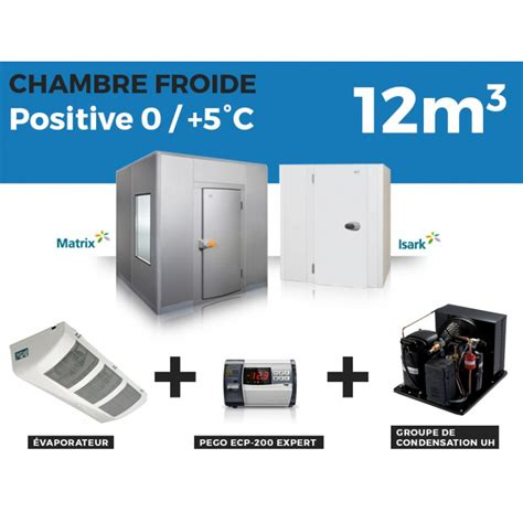 chambre froide n ative chambre froide positive 12m3 à 3 799 00 ht chez