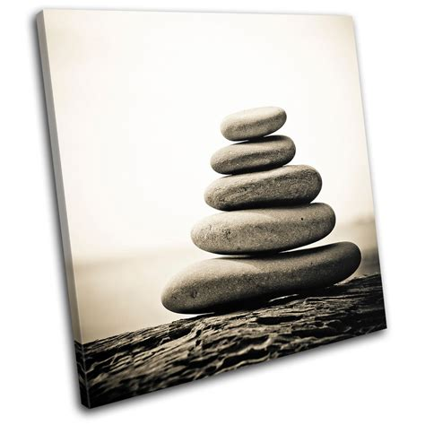 bathroom canvas pebbles tranquil bathroom single canvas wall picture