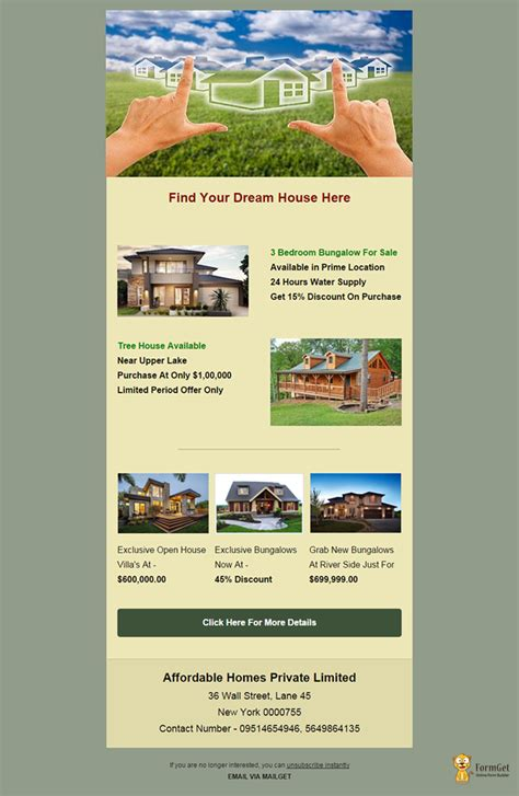 feature packed   real estate email templates mailget