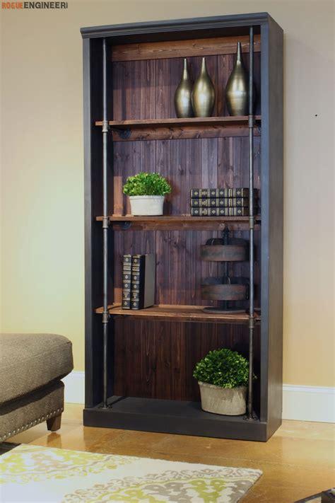 diy bookcase plans industrial bookcase free diy plans rogue engineer