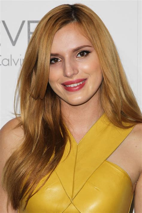 bella thorne straight ginger side part hairstyle steal