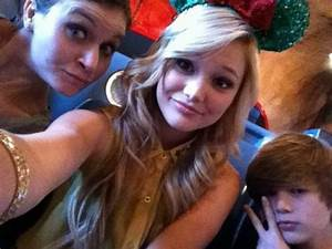 Olivia Holt With Her Brother In Cars Land At Disney ...