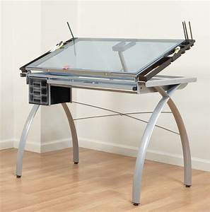 Studio RTA Design Futura Glass Top Drafting Table