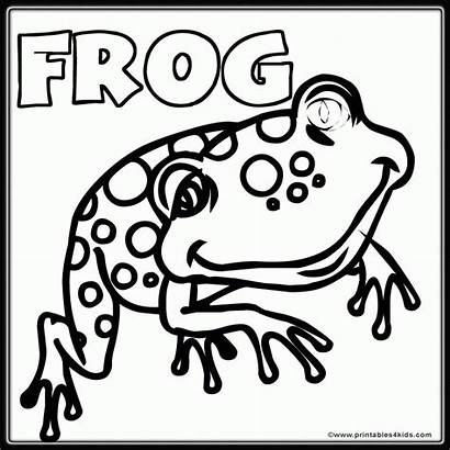 Frog Coloring Pages Word Printable Frogs Clipart
