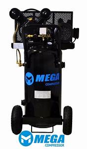 2 Hp Megapower Vertical Air Compressor  20 Gallon  Single Stage  Mp