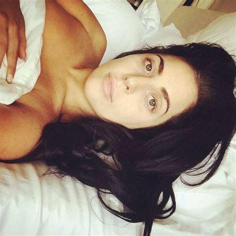 lady gaga posts topless makeup  selfie  bed