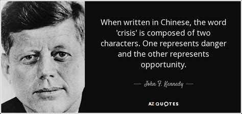 john  kennedy quote  written  chinese  word