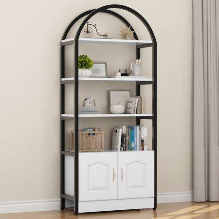 White Etagere Bookcase by Tribesigns 4 Shelf Bookshelf Etagere Bookcase With