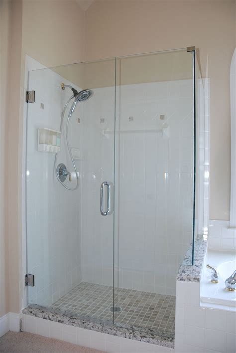 glass frameless shower doors   bath remodel project