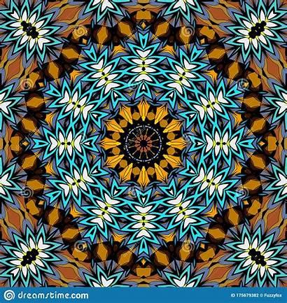 Mandala Seamless Abstract Fresh Round Spring Pattern