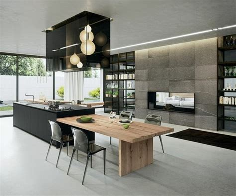 table de cuisine retractable la cuisine équipée avec ilot central 66 idées en photos