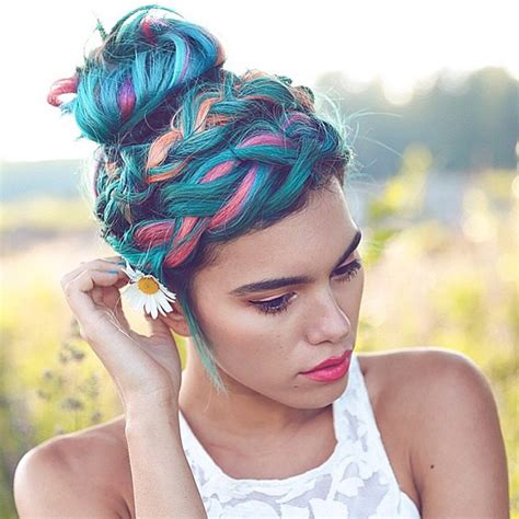colorful hairstyles unicorn hair color trend colorful hair color trends