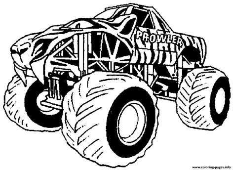 monster truck clipart coloring pages printable