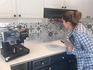 idee relooking cuisine peindre carrelage mural avec des With peindre un carrelage mural