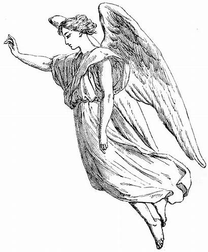 Angel Coloring Tattoo Pages Christmas Drawing Draw
