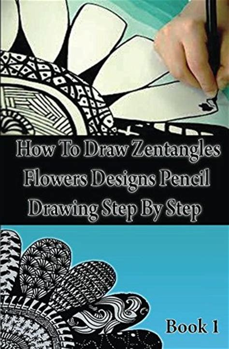 draw zentangle flowers designs pencil drawing step
