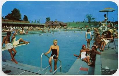 Abandoned Pool Outdoor Pablo Resorts Idyllic Vacation