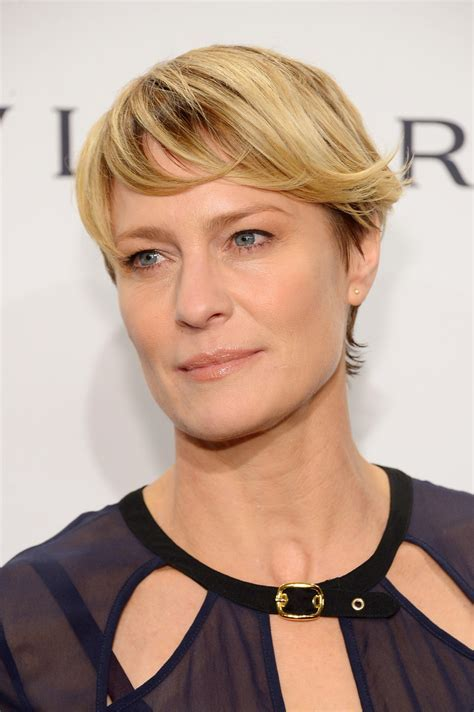 Robin Wright Short Cut With Bangs   Robin Wright Looks