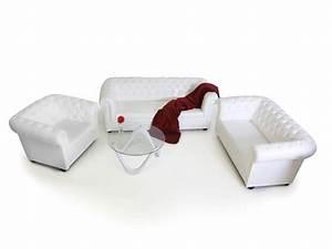 Chesterfield Sofa Weiss : chesterfield 3 2 1 sofagarnitur weiss ~ Eleganceandgraceweddings.com Haus und Dekorationen