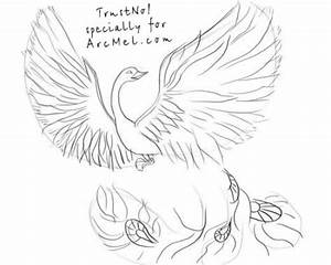 How to draw Phoenix step by step | ARCMEL.COM