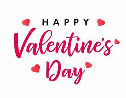 Valentines Happy Banner Lettering Vector Card Valentine