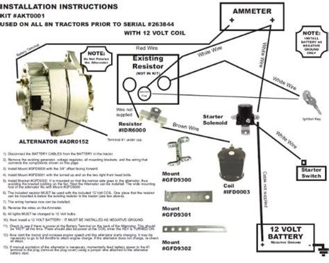 db electrical akt0001 ford 8n 2n 9n tractor alternator for