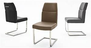 chaise simili cuir pied inox avec poignee novomeuble With deco cuisine avec chaise salle a manger simili cuir marron
