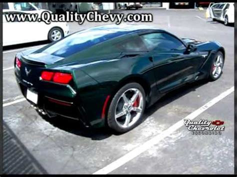 corvette stingray lime rock green metallic youtube