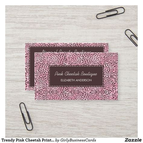trendy pink cheetah print girly beauty boutique business