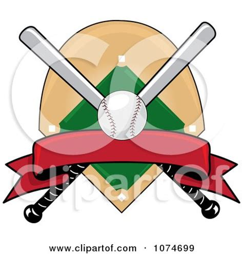 This first one does double duty. Clipart Baseball Bat Banner Field And Ball Logo 4 ...